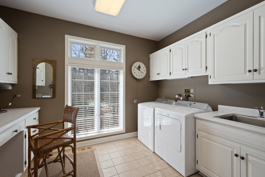Real Estate Photography - 246 Oak Knoll Rd., Barrington HIlls, IL, 60010 - Laundry Room