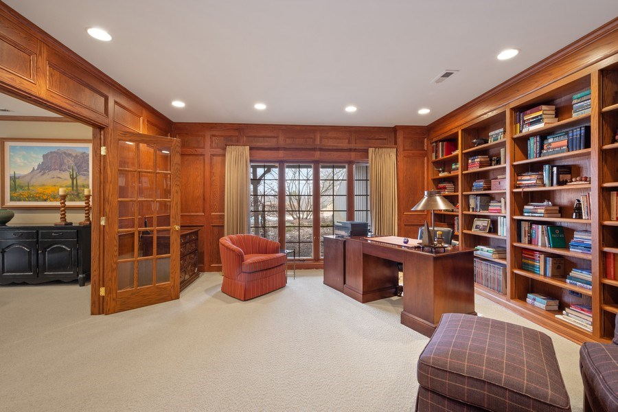 Real Estate Photography - 246 Oak Knoll Rd., Barrington HIlls, IL, 60010 - Office