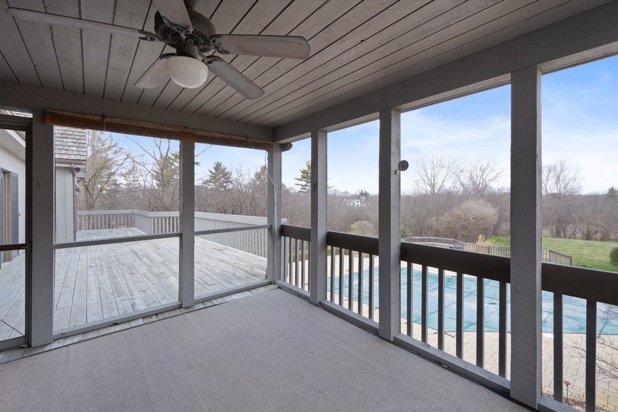 Real Estate Photography - 246 Oak Knoll Rd., Barrington HIlls, IL, 60010 - Screen Porch
