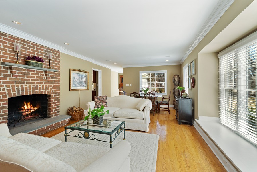 Real Estate Photography - 506 Elm Road, Barrington, IL, 60010 - Living Room