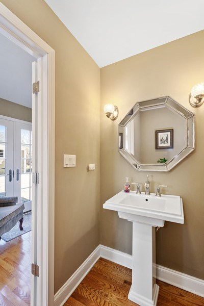 Real Estate Photography - 506 Elm Road, Barrington, IL, 60010 - Powder Room