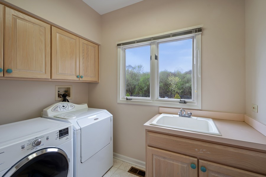 Real Estate Photography - 22425 N Linden Dr., Lake Barrington, IL, 60010 - Laundry Room (main level)