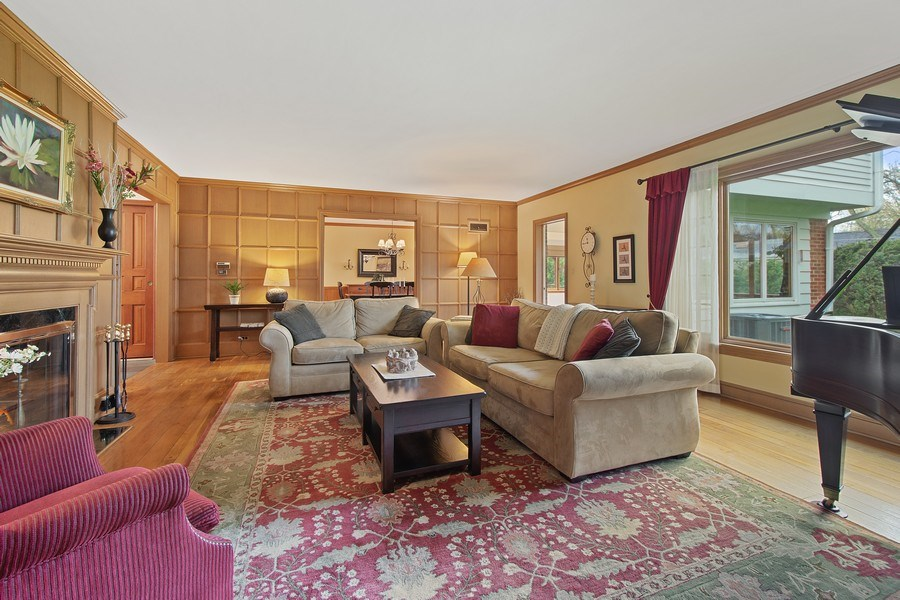 Real Estate Photography - 243 Linden Road, Barrington, IL, 60010 - Living Room