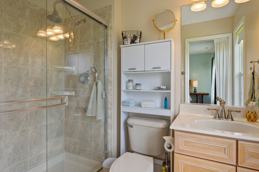 Real Estate Photography - 508 Pond Gate Drive, Barrington Hills, IL, 60010 - Ensuite Bath to 4th Bedroom