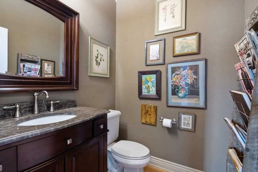 Real Estate Photography - 508 Pond Gate Drive, Barrington Hills, IL, 60010 - Powder Room