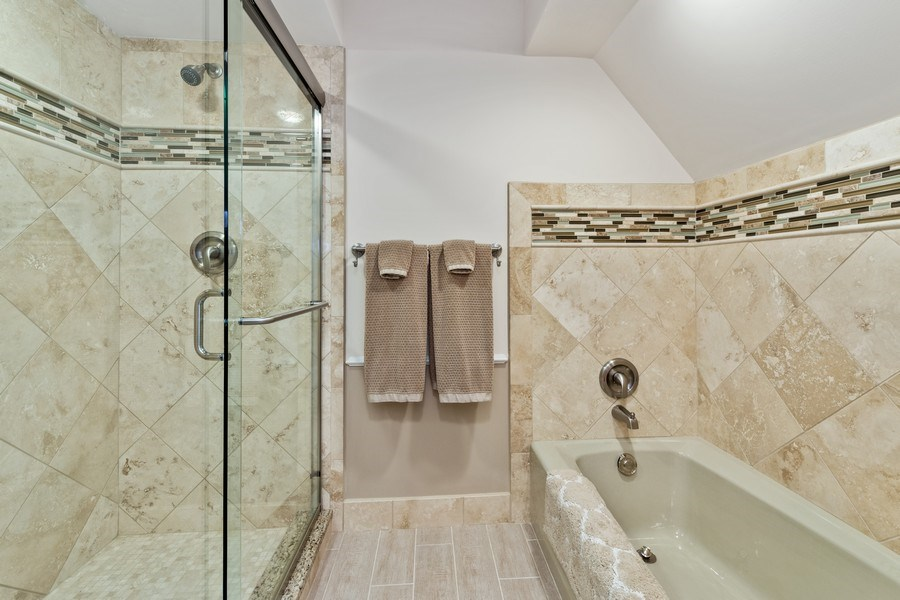 Real Estate Photography - 90 Hawthrone Rd., Barrington Hills, IL, 60010 - 3rd Bathroom