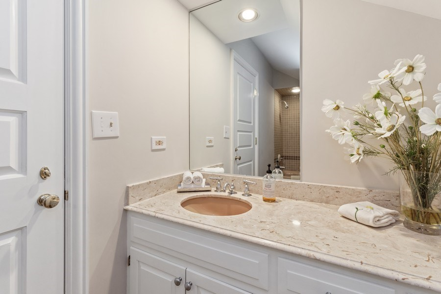 Real Estate Photography - 90 Hawthrone Rd., Barrington Hills, IL, 60010 - 5th Bathroom (guest suite/main level)
