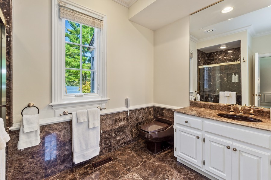 Real Estate Photography - 90 Hawthrone Rd., Barrington Hills, IL, 60010 - Master Bathroom