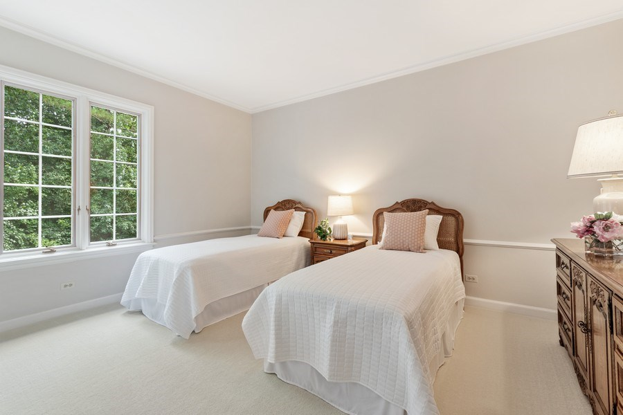 Real Estate Photography - 90 Hawthrone Rd., Barrington Hills, IL, 60010 - 6th Bedroom (guest suite/main level)