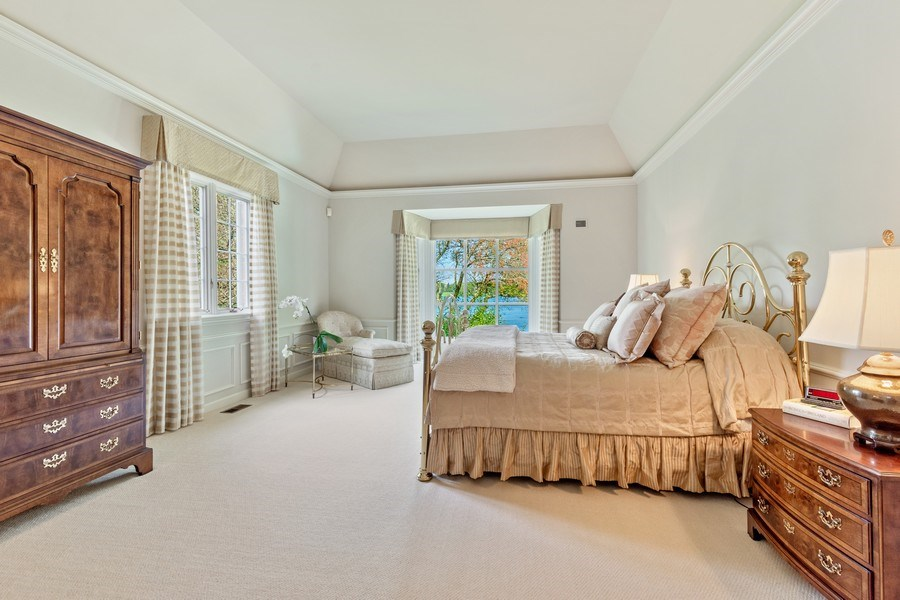 Real Estate Photography - 90 Hawthrone Rd., Barrington Hills, IL, 60010 - Master Bedroom