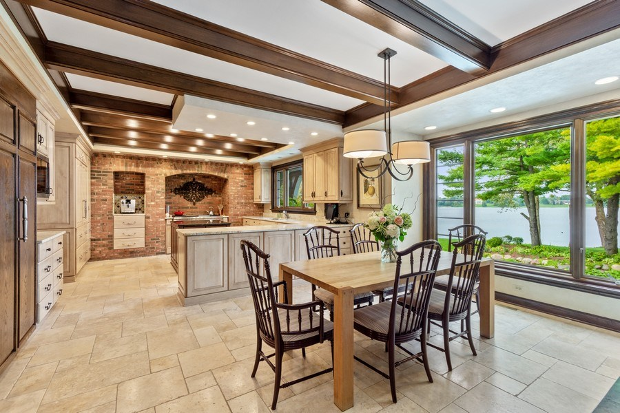 Real Estate Photography - 90 Hawthrone Rd., Barrington Hills, IL, 60010 - Kitchen / Breakfast Room
