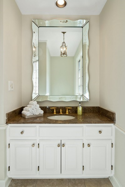 Real Estate Photography - 90 Hawthrone Rd., Barrington Hills, IL, 60010 - Powder Room