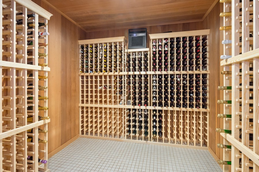 Real Estate Photography - 90 Hawthrone Rd., Barrington Hills, IL, 60010 - Wine Cellar