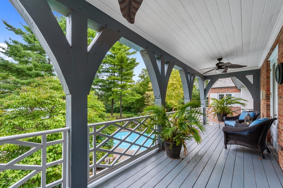 Real Estate Photography - 90 Hawthrone Rd., Barrington Hills, IL, 60010 - Balcony