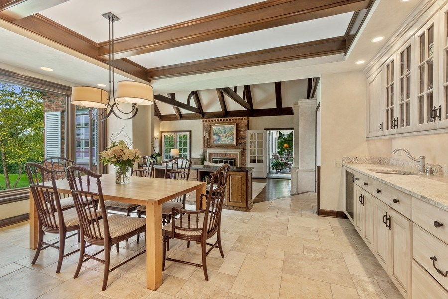 Real Estate Photography - 90 Hawthrone Rd., Barrington Hills, IL, 60010 - Breakfast Area