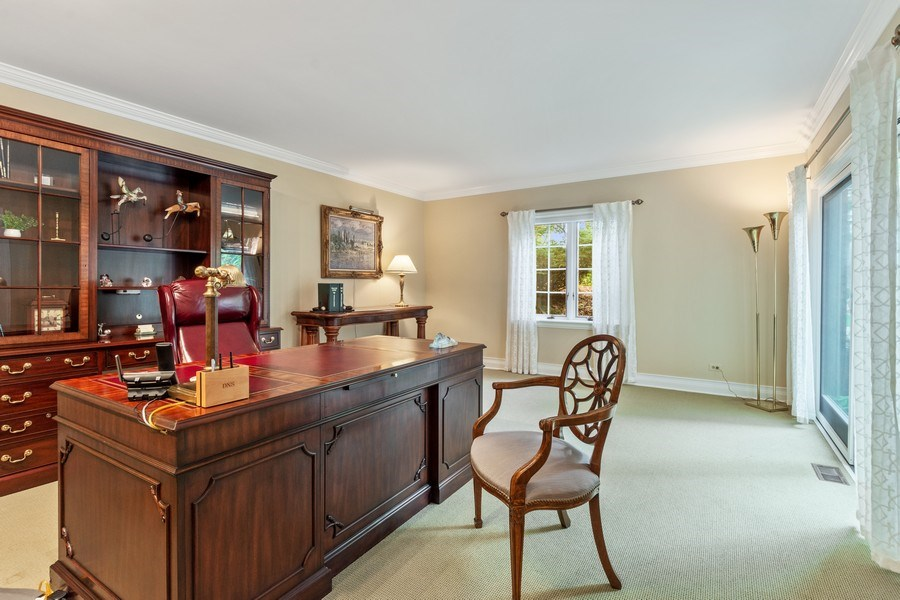 Real Estate Photography - 90 Hawthrone Rd., Barrington Hills, IL, 60010 - Office / Guest Suite (lower level)
