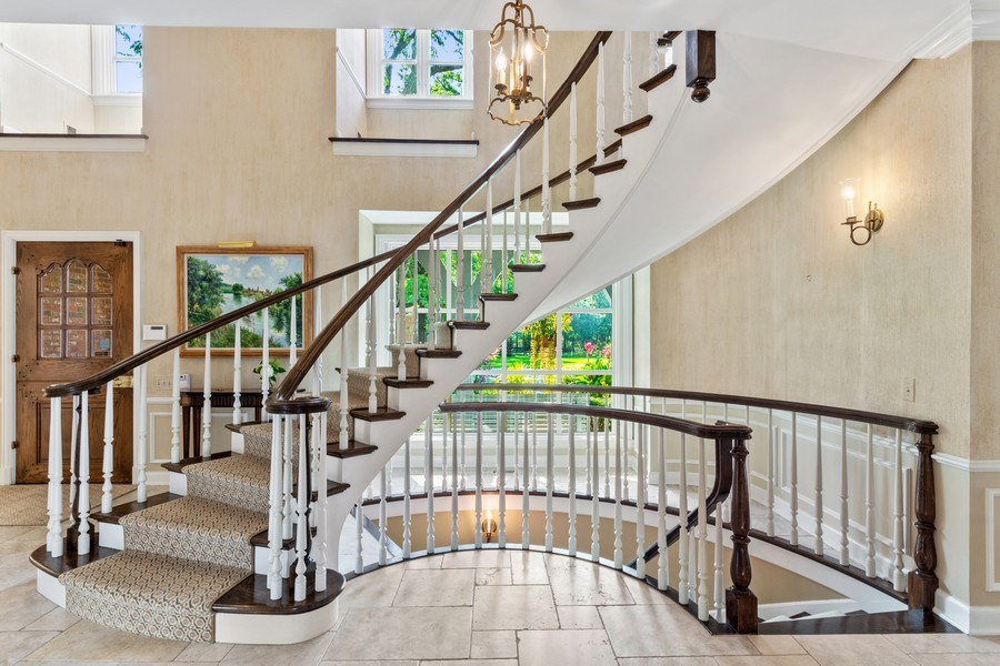 Real Estate Photography - 90 Hawthrone Rd., Barrington Hills, IL, 60010 - Staircase