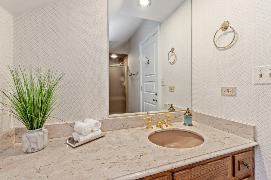 Real Estate Photography - 90 Hawthrone Rd., Barrington Hills, IL, 60010 - 4th Bathroom (guest suite/main level)