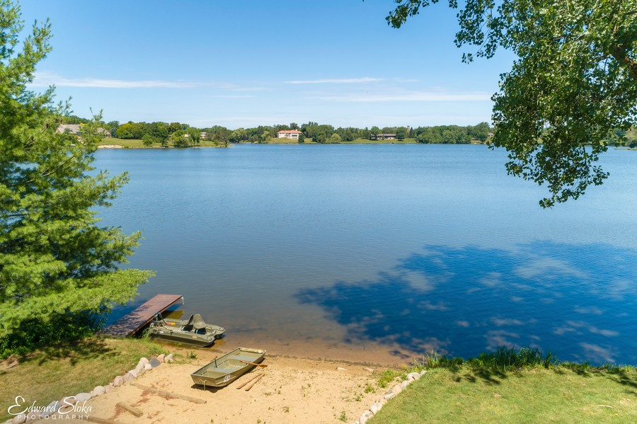 Real Estate Photography - 90 Hawthrone Rd., Barrington Hills, IL, 60010 - Lake view