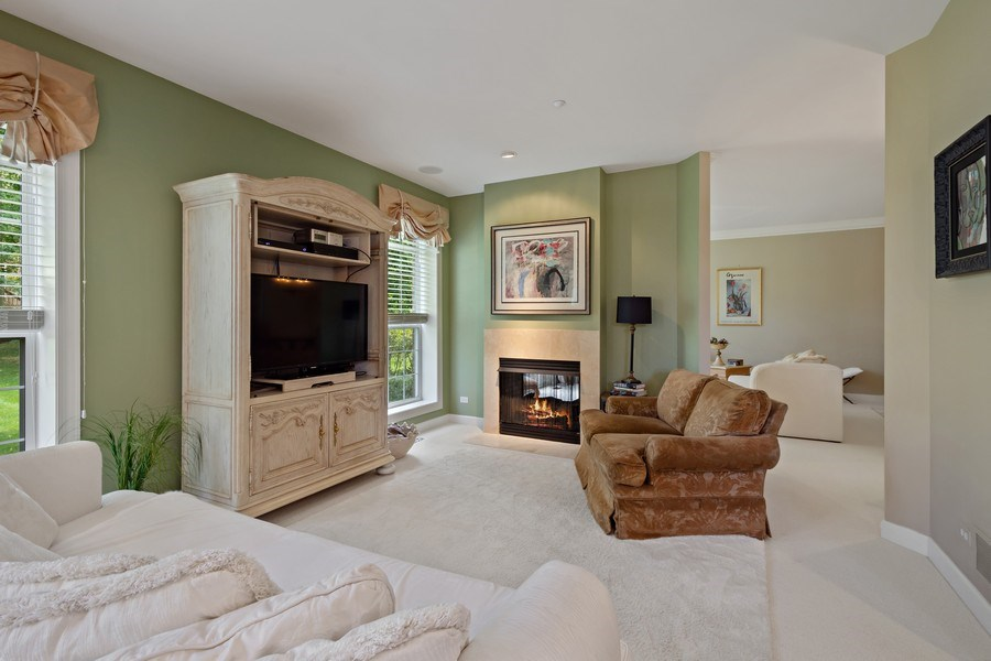 Real Estate Photography - 600 Stone Canyone Circle, Inverness, IL, 60010 - Family Room