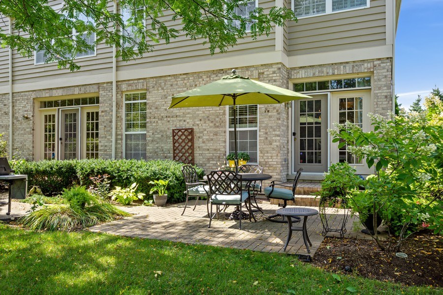 Real Estate Photography - 600 Stone Canyone Circle, Inverness, IL, 60010 - Rear View