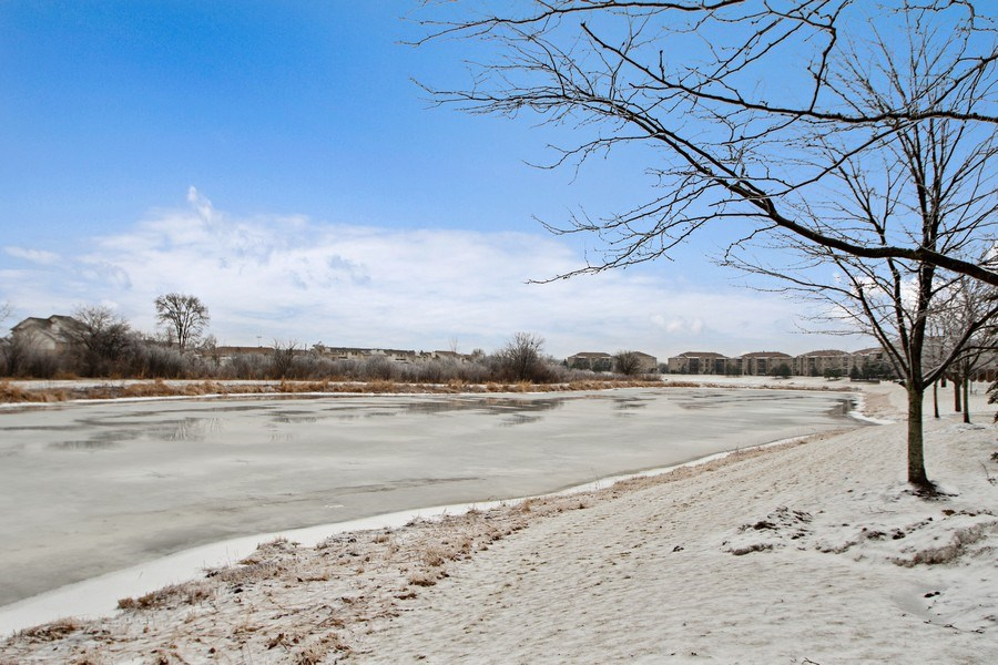 Real Estate Photography - 18526 Dearborn Court, Tinley Park, IL, 60477 - Nearby Pond with Walking Path