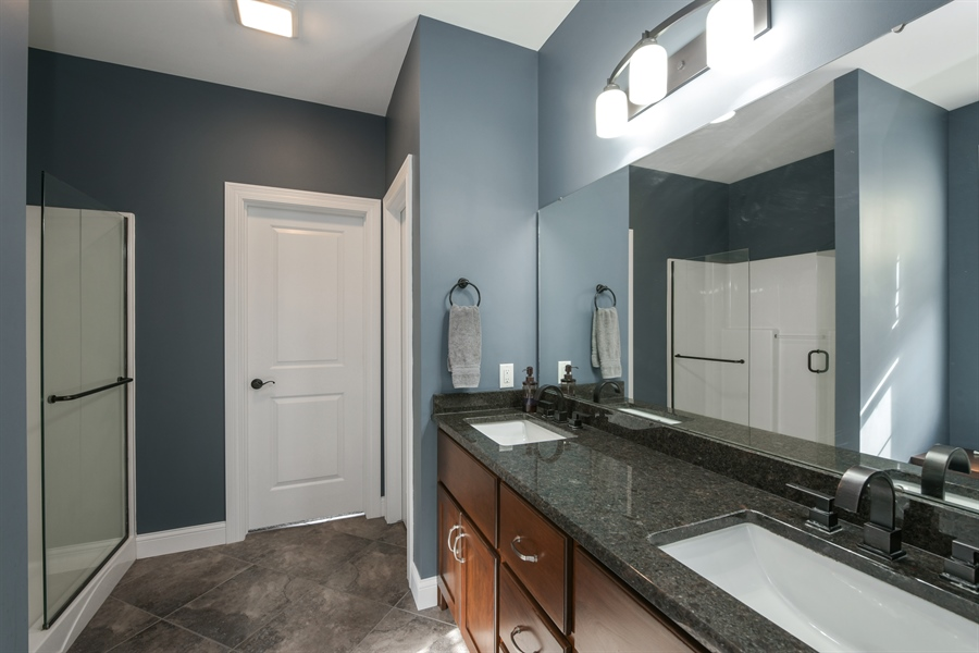 Real Estate Photography - 3455 Badger Court, Valparaiso, IN, 46383 - Master Bathroom
