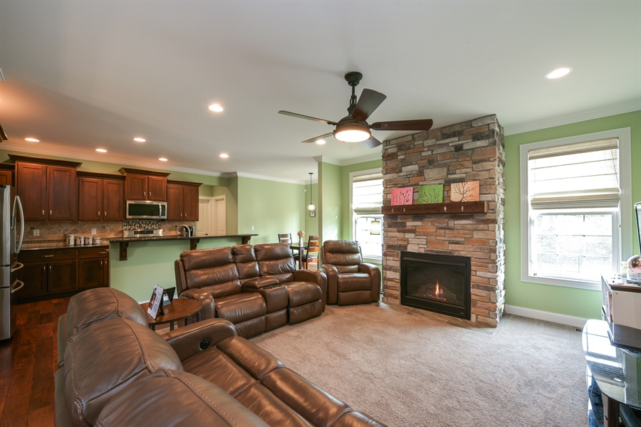 Real Estate Photography - 3455 Badger Court, Valparaiso, IN, 46383 - Living Room