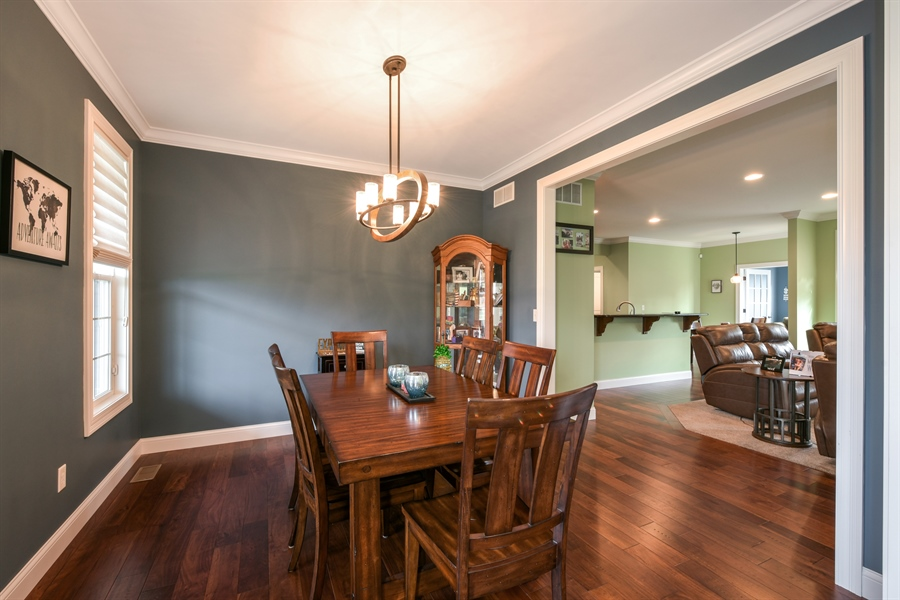 Real Estate Photography - 3455 Badger Court, Valparaiso, IN, 46383 - Dining Room