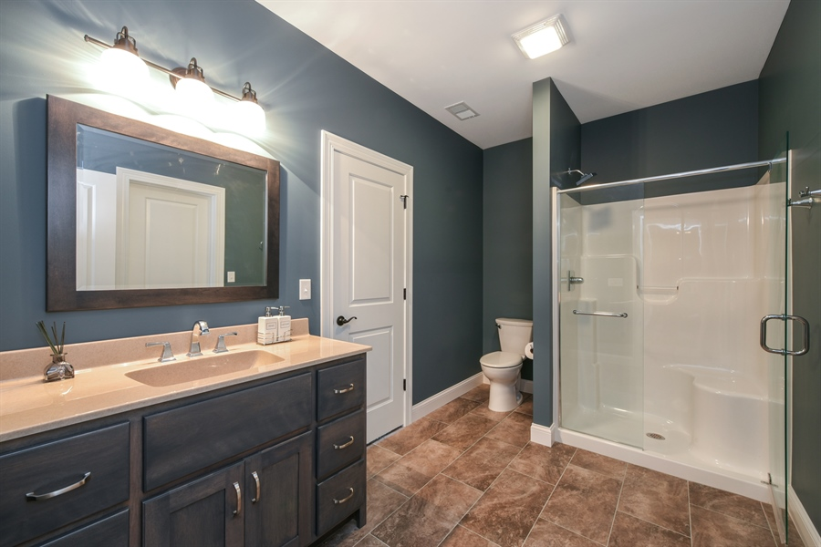 Real Estate Photography - 3455 Badger Court, Valparaiso, IN, 46383 - 2nd Bathroom