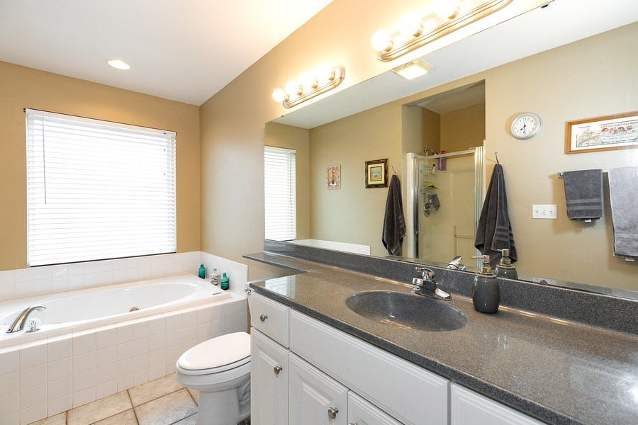 Real Estate Photography - 823 Meadowbrook Drive, Lowell, IN, 46356 - Master Bathroom