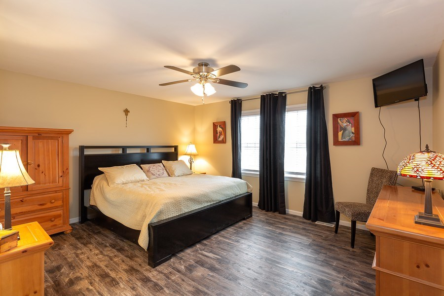 Real Estate Photography - 823 Meadowbrook Drive, Lowell, IN, 46356 - Master Bedroom