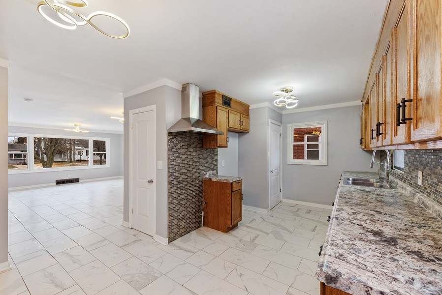 Real Estate Photography - 7439 Olcott ave, Hammond, IN, 46323 - Kitchen