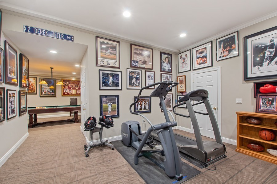 Real Estate Photography - 21 Admiral Wordens Lane, Briarcliff Manor, NY, 10510 - Gym