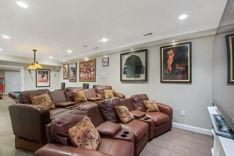 Real Estate Photography - 21 Admiral Wordens Lane, Briarcliff Manor, NY, 10510 - Theater Room
