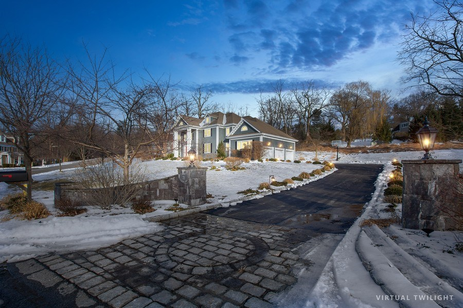 Real Estate Photography - 21 Admiral Wordens Lane, Briarcliff Manor, NY, 10510 - Driveway and 3 Car Garage