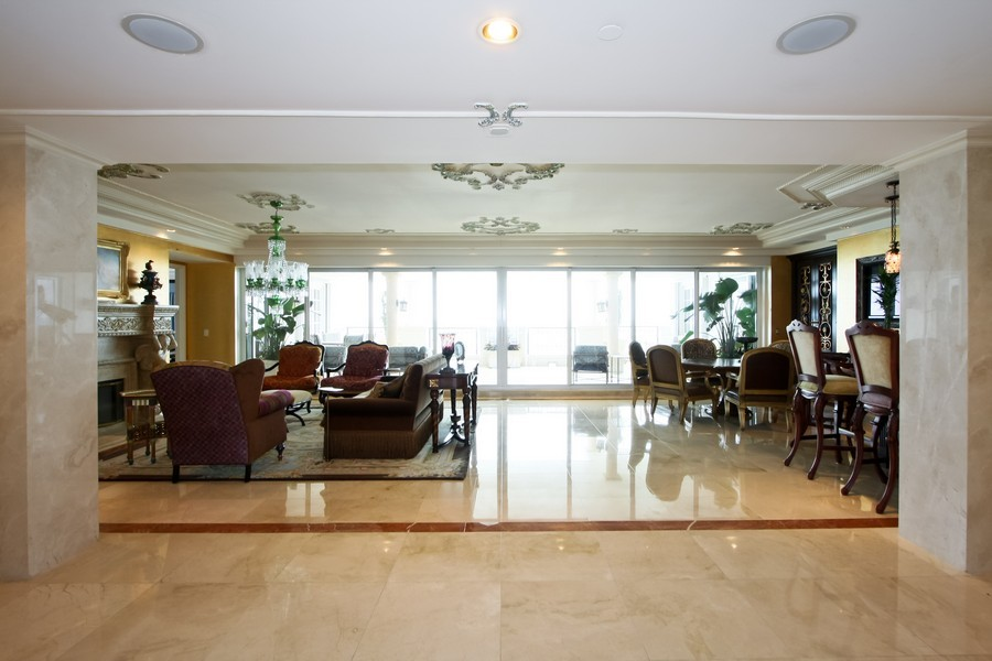 Real Estate Photography - 7972 Fisher Island Drive, 7972, Fisher Island, FL, 33109 - Living Room
