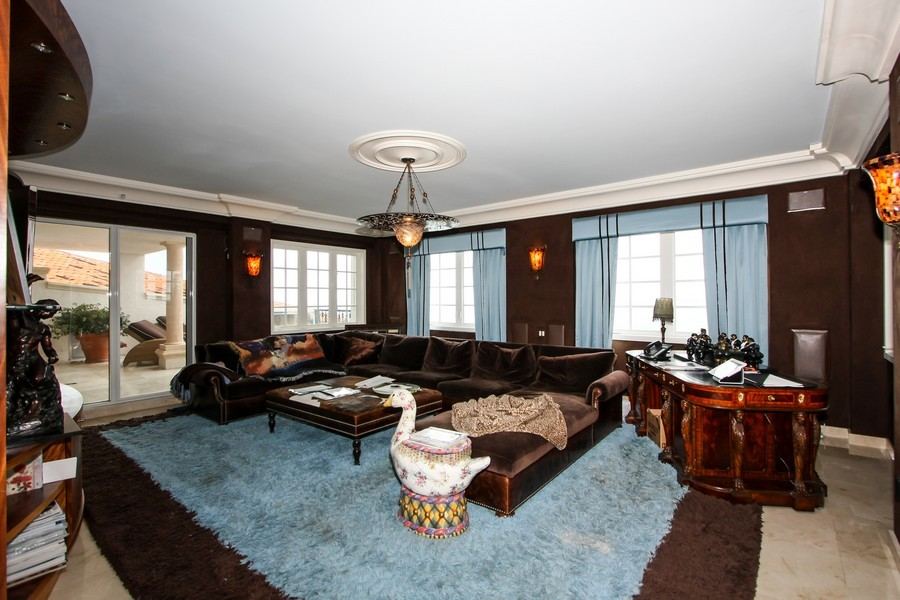 Real Estate Photography - 7972 Fisher Island Drive, 7972, Fisher Island, FL, 33109 - Family Room