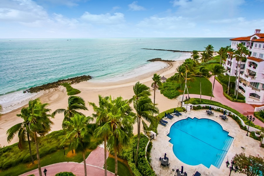 Real Estate Photography - 7972 Fisher Island Drive, 7972, Fisher Island, FL, 33109 - Ocean View