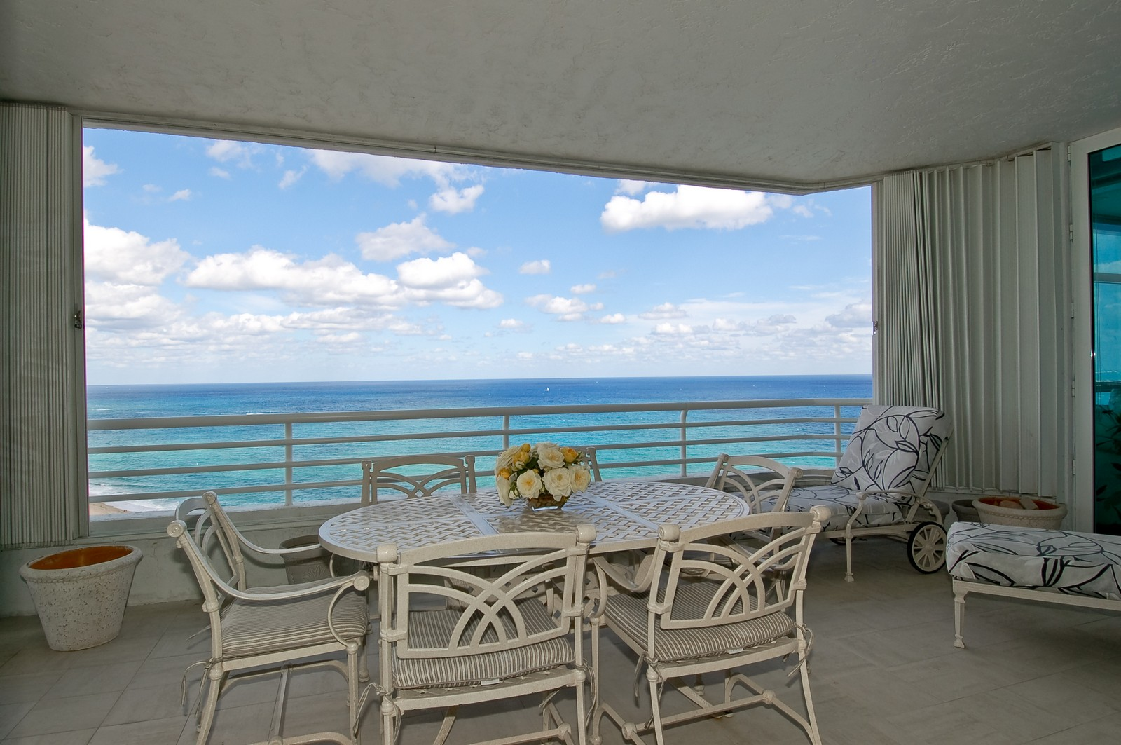 Real Estate Photography - 1700 S Ocean Blvd, 22C, Lauderdale by the Sea, FL, 33062 - OCEAN VIEW FROM LIVING ROOM