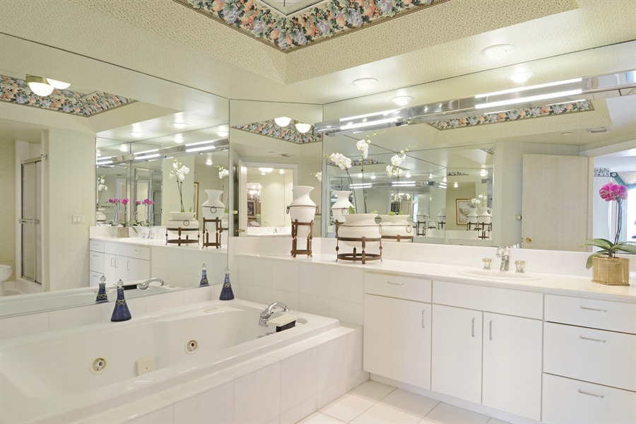 Real Estate Photography - 2800 Island Blvd, Unit 2903, Aventura, FL, 33160 - Master Bathroom