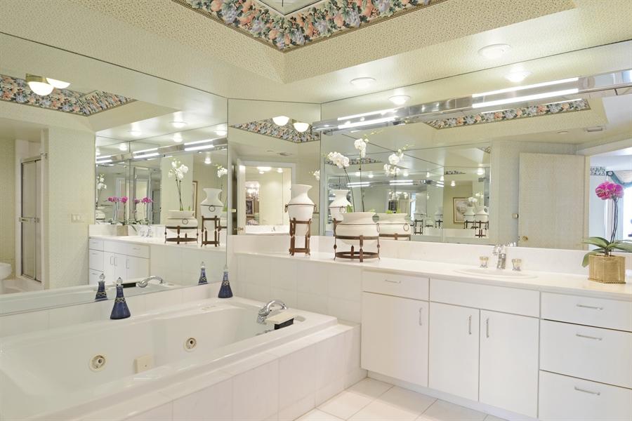Real Estate Photography - 2800 Island Blvd, Unit 2903, Aventura, FL, 33160 - Master Bathroom
