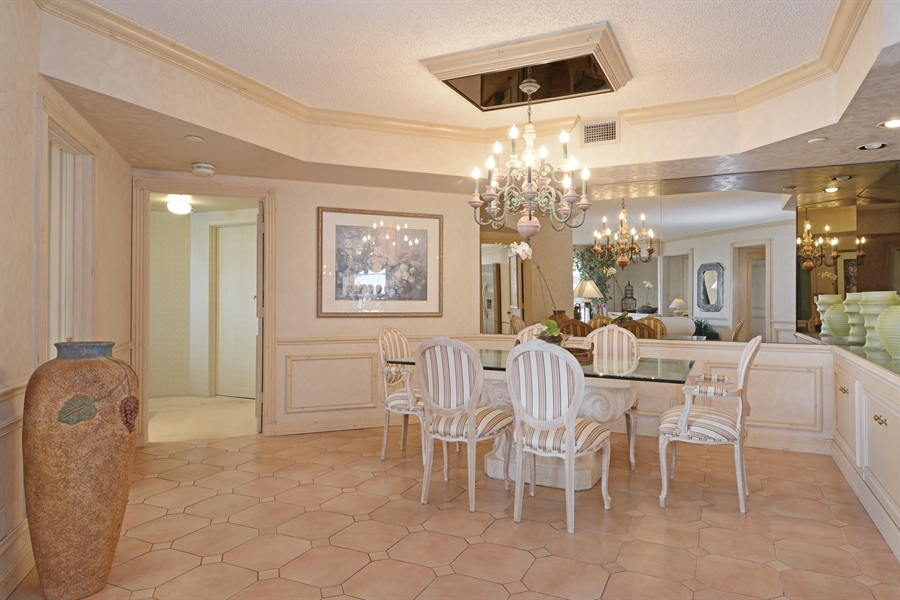 Real Estate Photography - 2800 Island Blvd, Unit 2903, Aventura, FL, 33160 - Dining Room