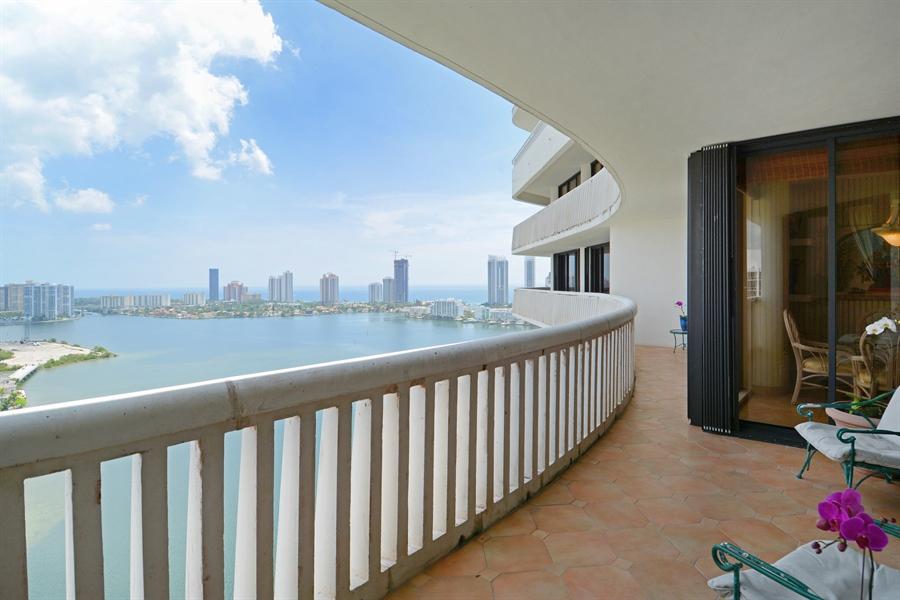 Real Estate Photography - 2800 Island Blvd, Unit 2903, Aventura, FL, 33160 - Balcony