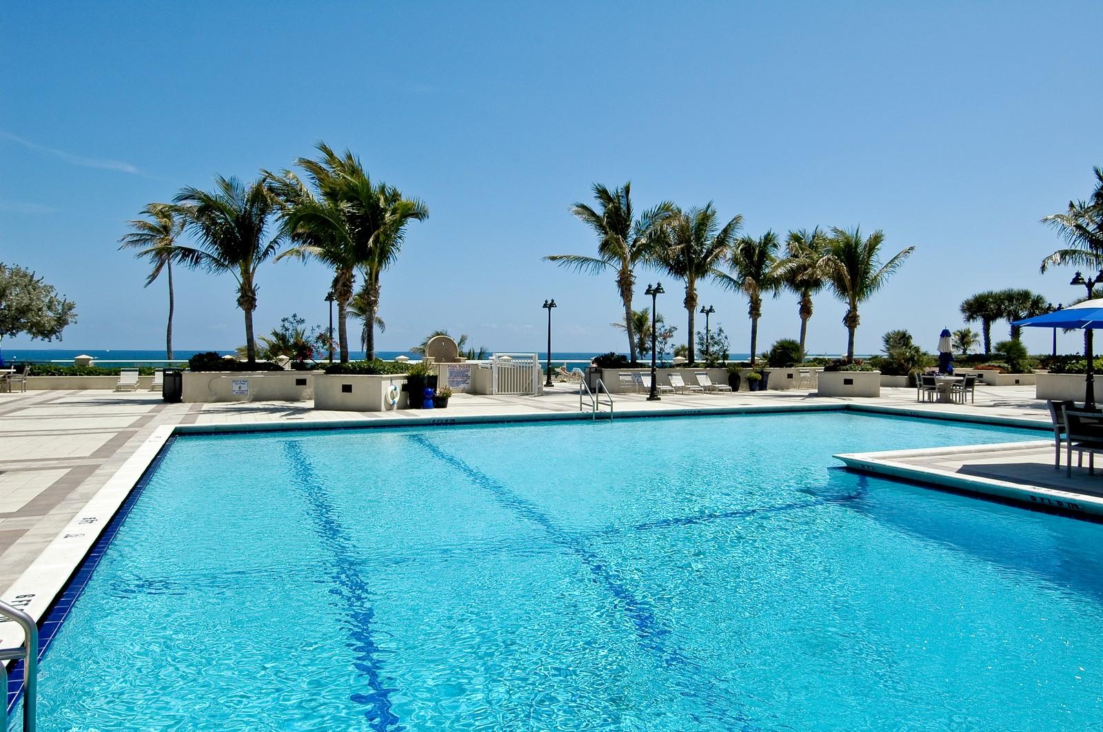 Real Estate Photography - 2200 S Ocean Ln, 206, Fort Lauderdale, FL, 33316 - Pool