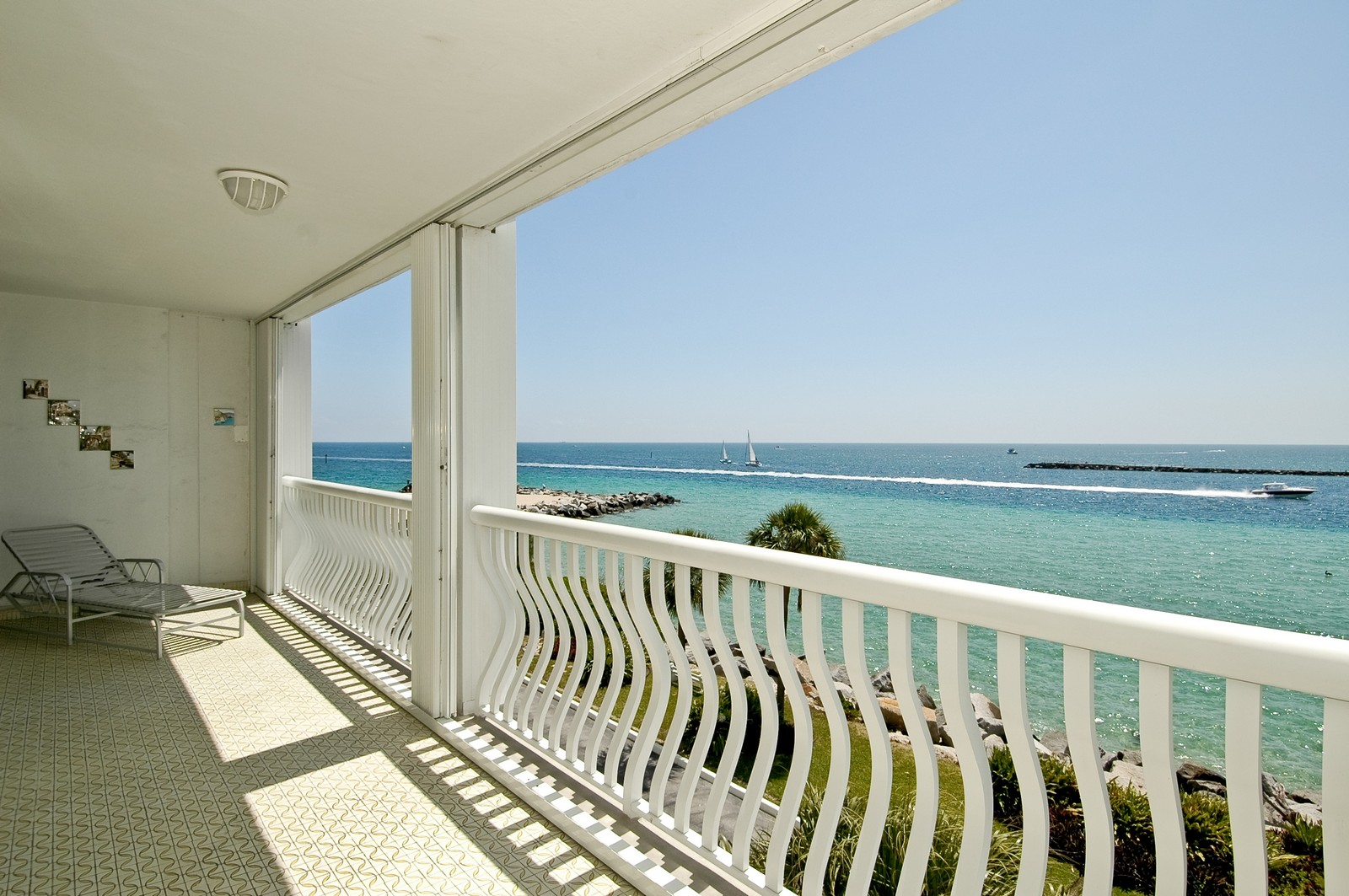 Real Estate Photography - 2200 S Ocean Ln, 206, Fort Lauderdale, FL, 33316 - Balcony