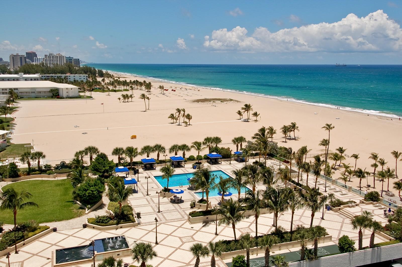 Real Estate Photography - 2200 S Ocean Ln, 1003, Fort Lauderdale, FL, 33316 - Pool