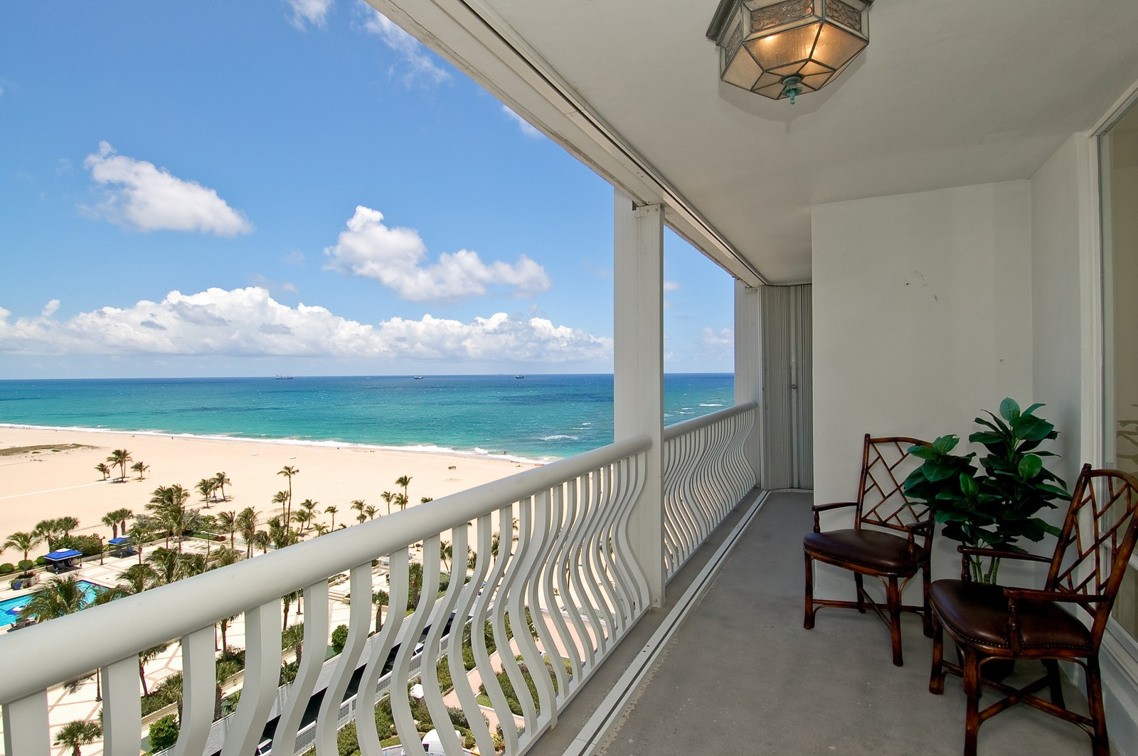 Real Estate Photography - 2200 S Ocean Ln, 1003, Fort Lauderdale, FL, 33316 - Balcony