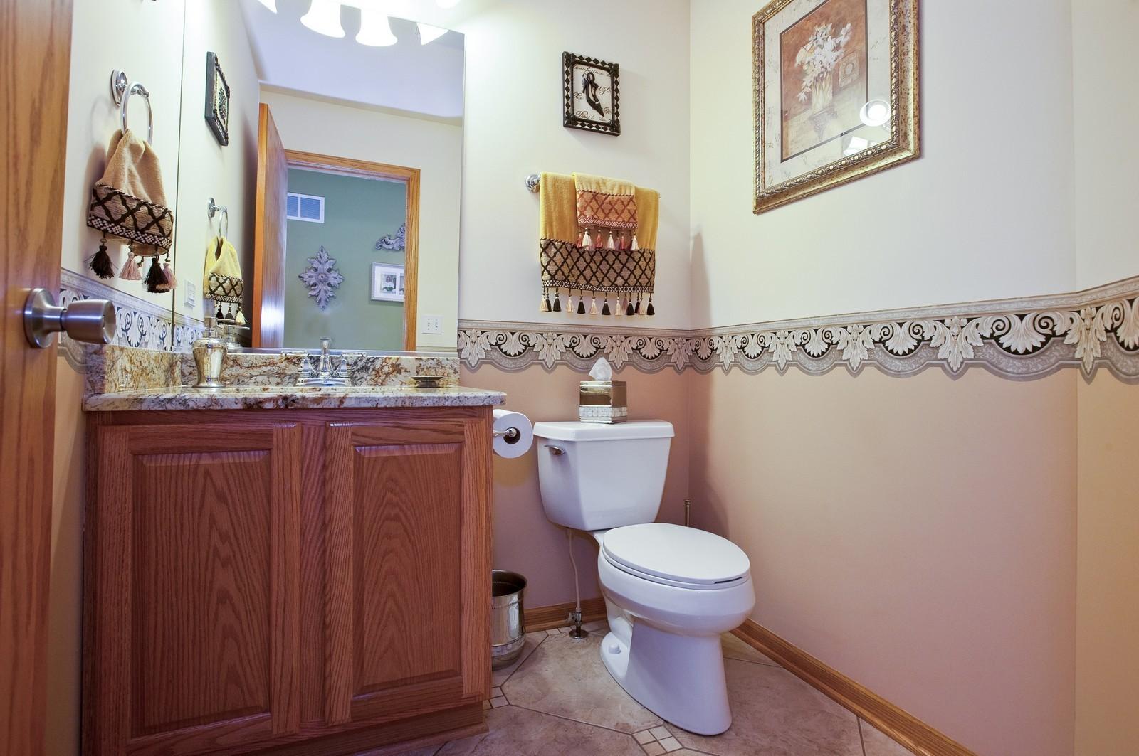 Real Estate Photography - 6617 Natasha Ct, Countryside, IL, 60525 - Half Bath