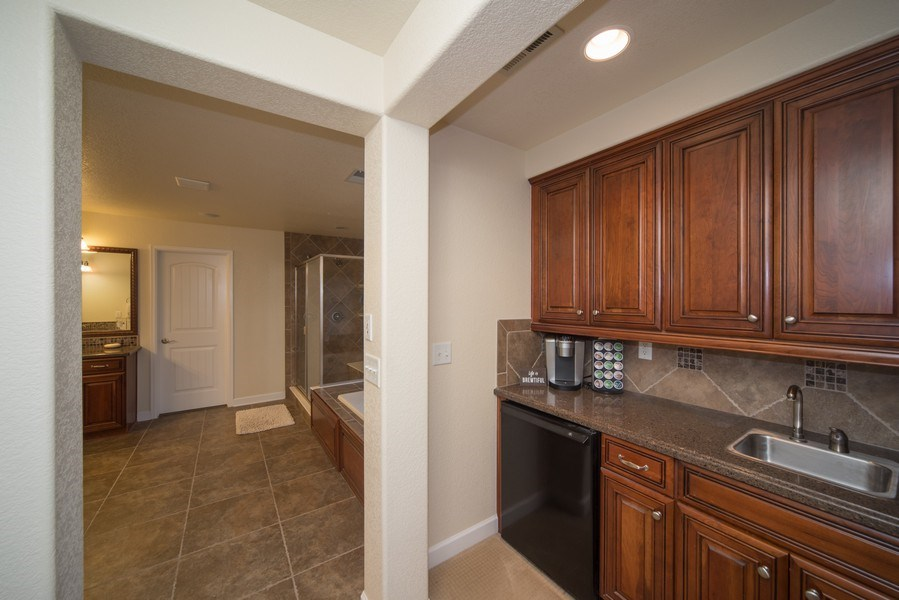 Real Estate Photography - 14345 Kalamath, Westminster, CO, 80023 - Master Suite Coffee Bar